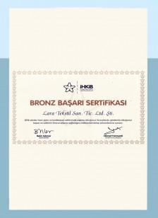 IHKIB Bronz Başarı Belgesi